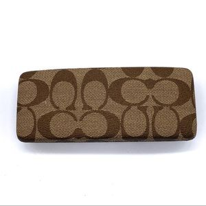 Coach Brown signature Canvas Logo Eyeglass Case